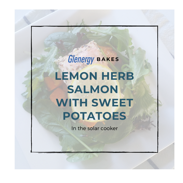 Lemon Herb Salmon With Sweet Potatoes