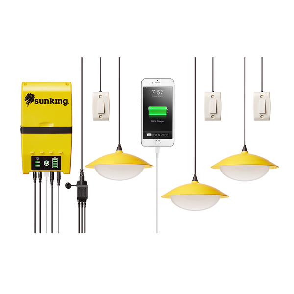 Sun King Solar Small Home Lighting System - Glenergy - Canada