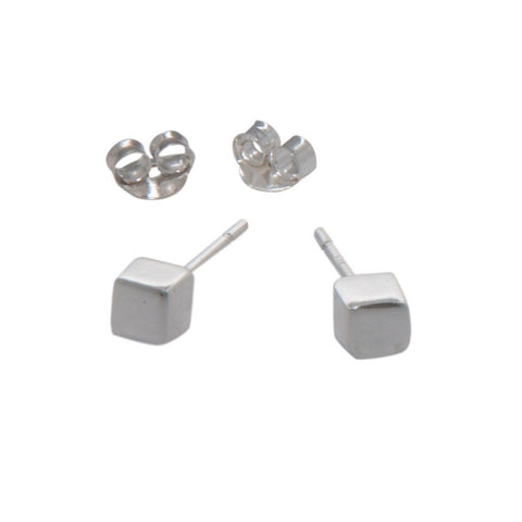 cubes studs earrings sterling silver stacking earrings katami designs vancouver jewellery designer