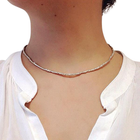 Sterling silver katami designs jewelry stanley park vancouver jewellery designer choker necklace custom made