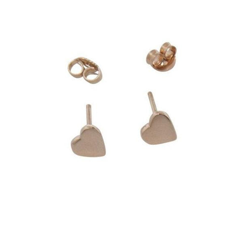 14k solid yellow gold heart earrings katami designs vancouver jewelry designer jewellery custom made