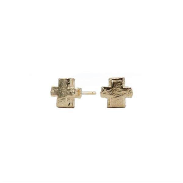 Crux Cross Stud Earrings