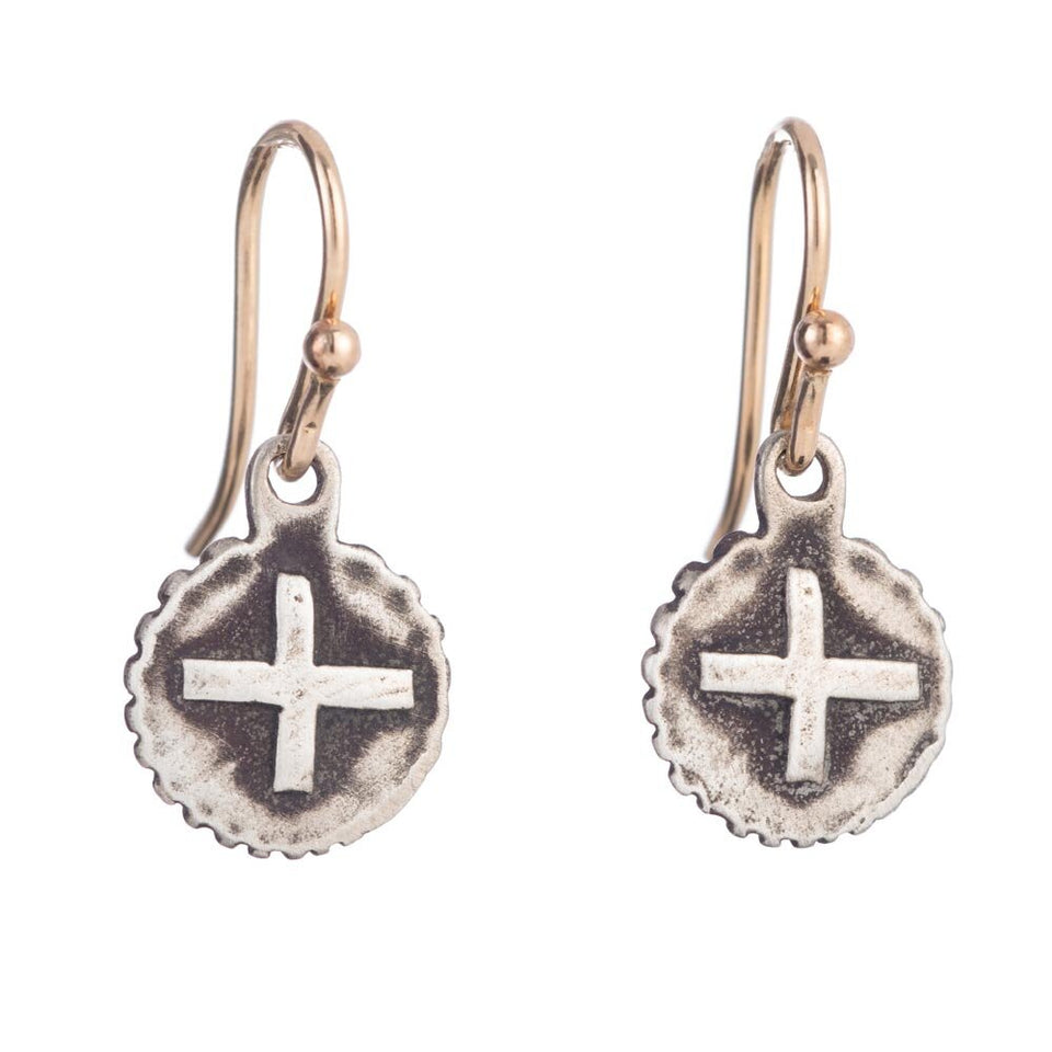 Signature Cross Coin Earrings