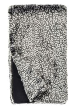 Grey Cheetah Faux Fur Throw - 60x86