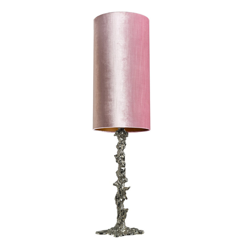 Lamp Base Drip with Light Pink Shade