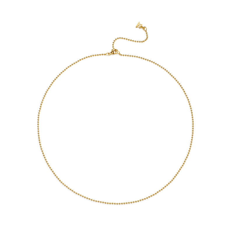 18K Ball Chain - Multiple Sizes Available