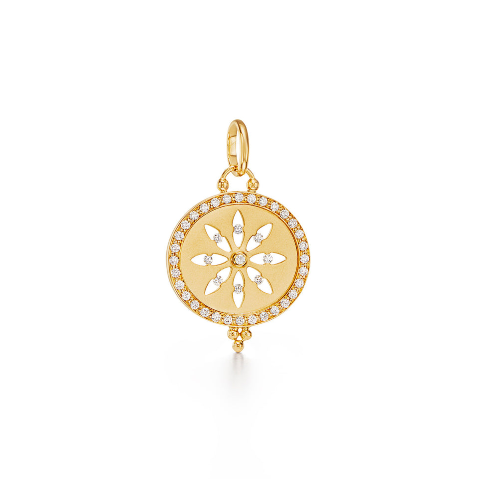 18K Cutout Sorcerer Pendant with diamond pavé