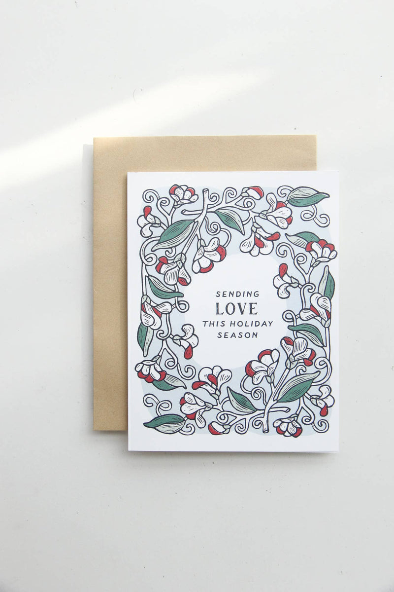 Sending Love this Holiday Season - Sweet Pea Card