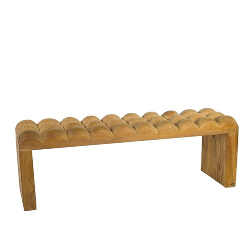 Padded Wooden Bench