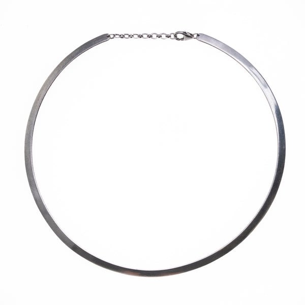 Solid Silver Band Choker