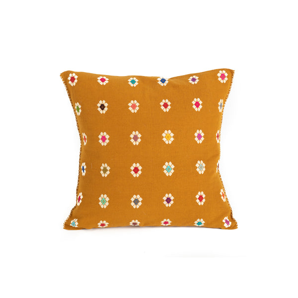 Mexican Throw Pillow - Flower Pattern