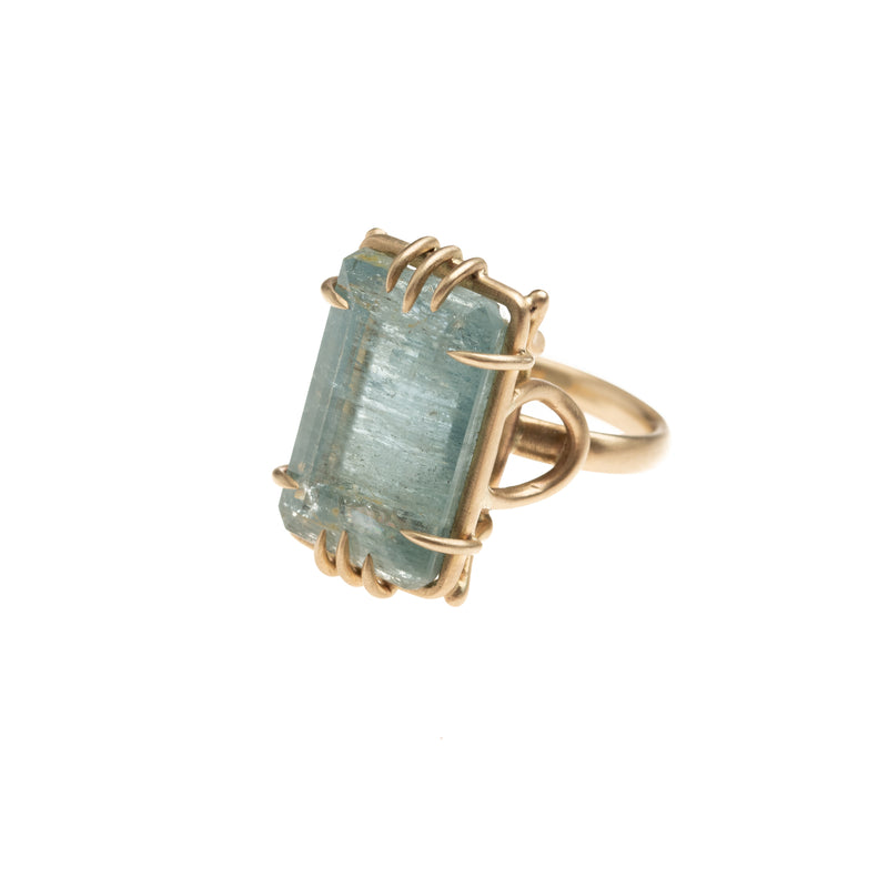 Aquamarine Stirrup Vanity Ring