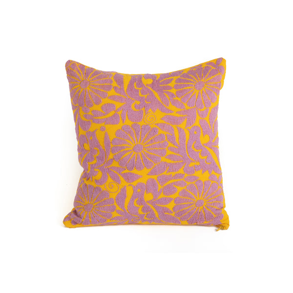 Otomi Embroidery Throw Pillow