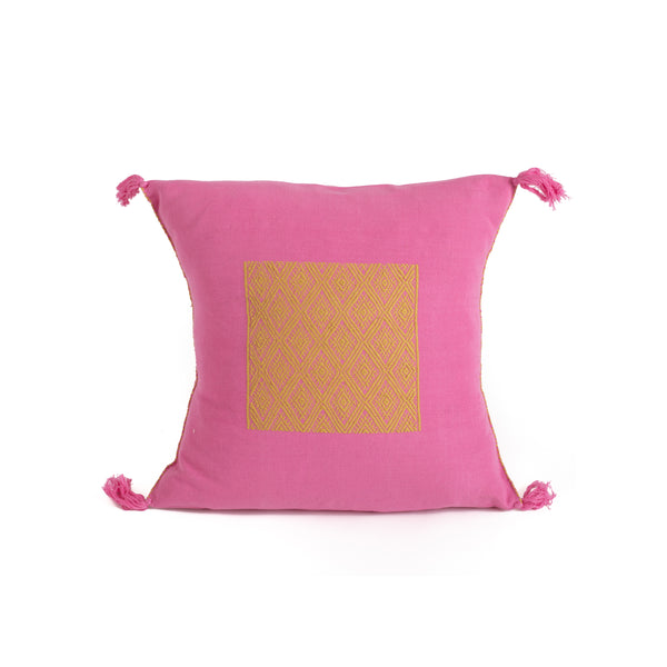 Mexican Throw Pillow - Diamond Frame