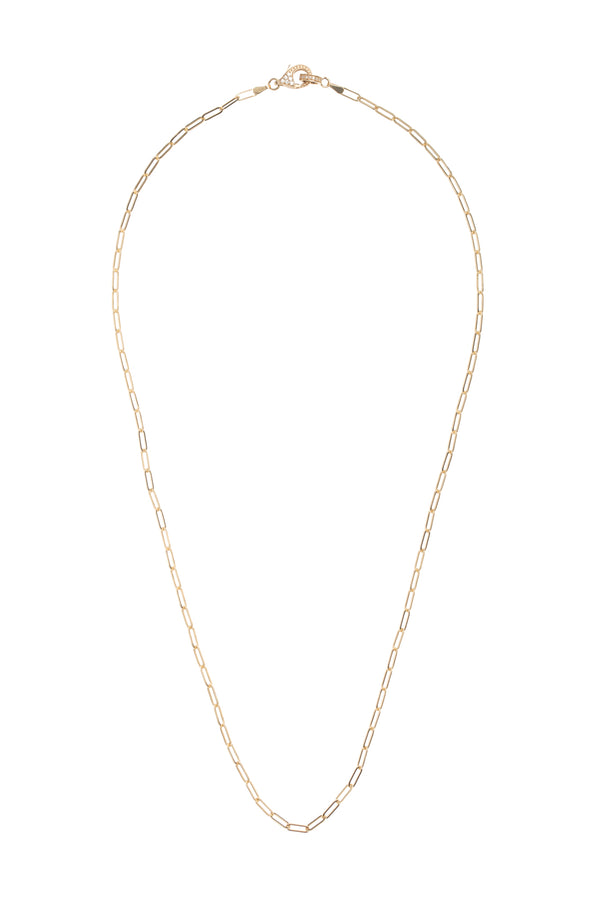 Delicate Gold Diamond Clasp Chain