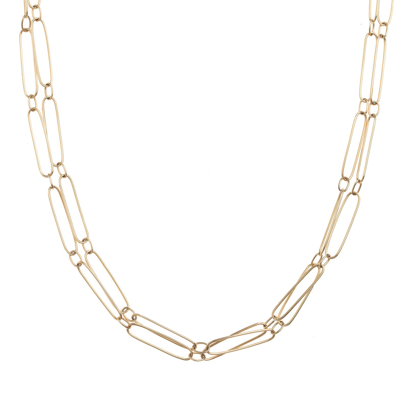 Elongated Gold Link Chain