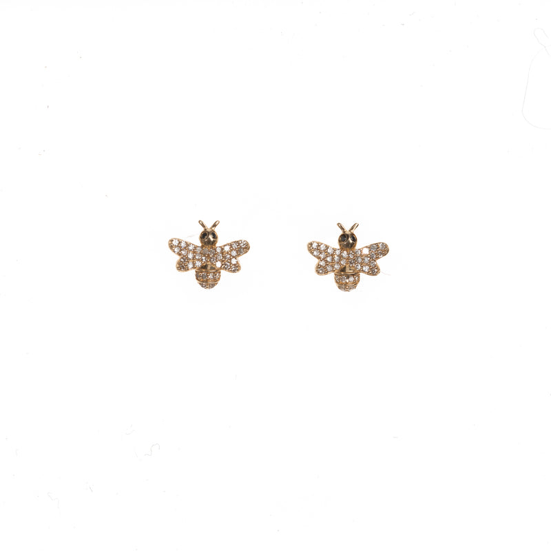 Extra Petite Sweet Bee Stud Earrings