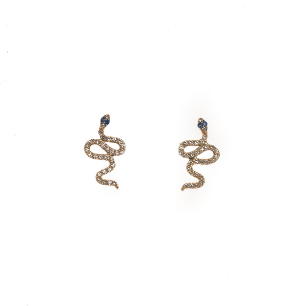 Extra Petite Snake Stud Earrings