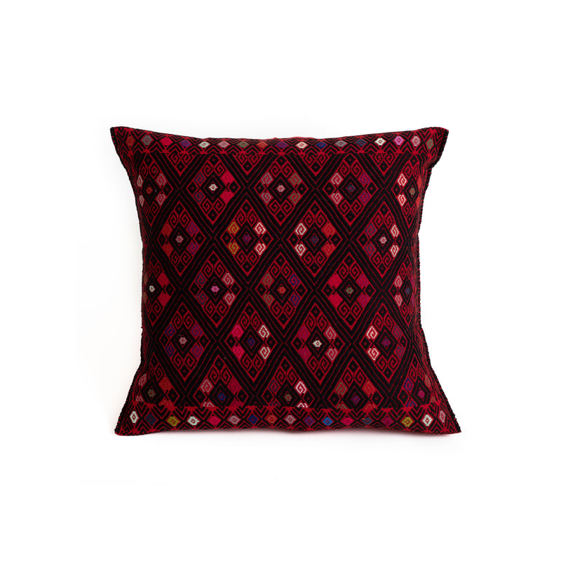 Mexican Throw Pillow - Colorful Diamond Pattern
