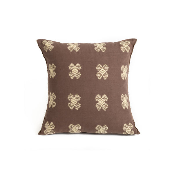Mexican Throw Pillow - Diamond Spirals