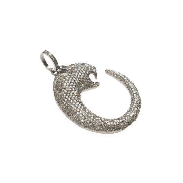 Pave Diamond Panther Head Pendant