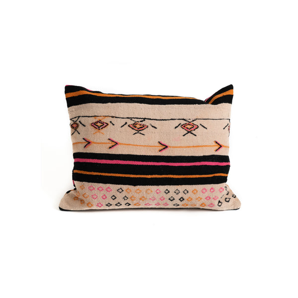 Moroccan Colored Haik Cushion - 70x50 - Pink Stripes