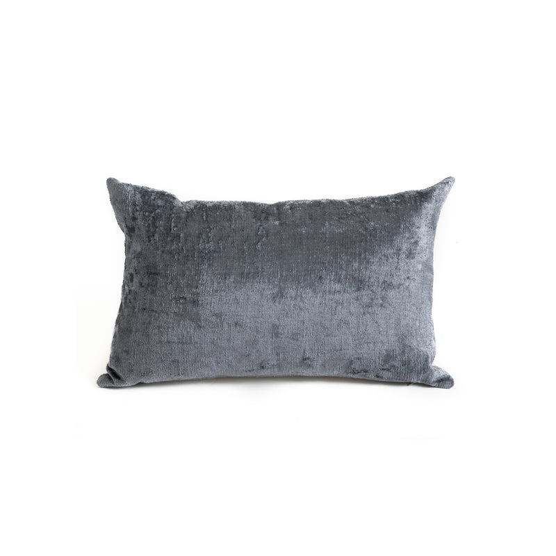 Ikat Velvet Lumbar Pillow - Solid