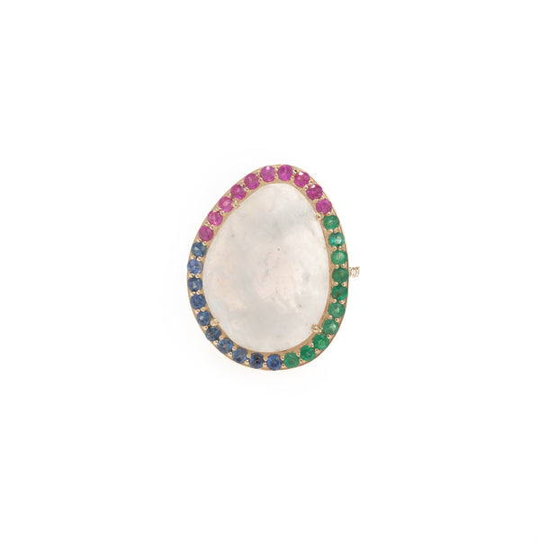 Light Spectrum Gold Moonstone Ring