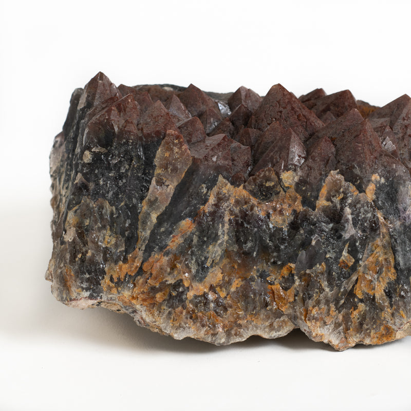 Hematite on Amethyst Cluster - Small
