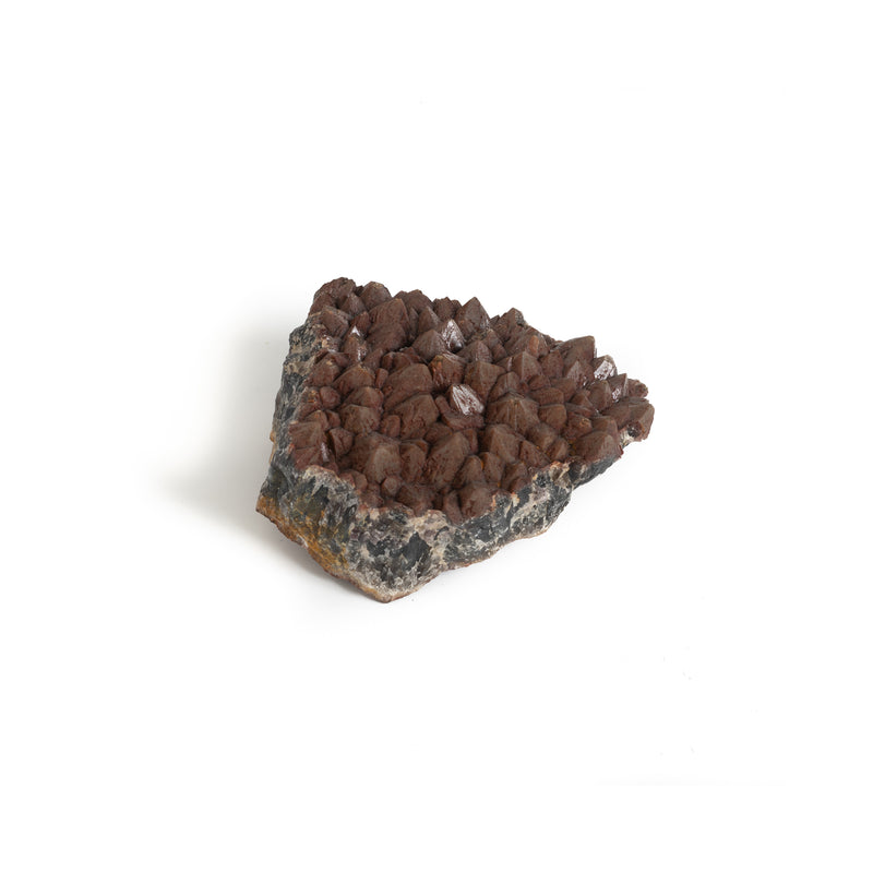 Hematite on Amethyst Cluster - Large