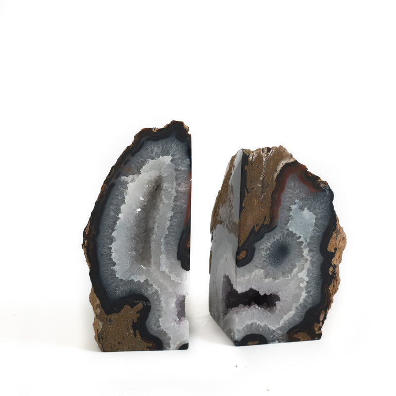 Stone Bookend - Blue Asymmetric