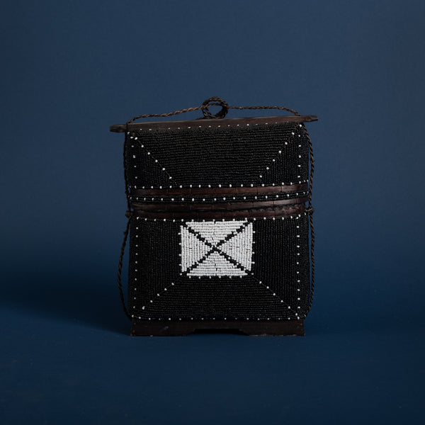Beaded Bamboo Hand Bag