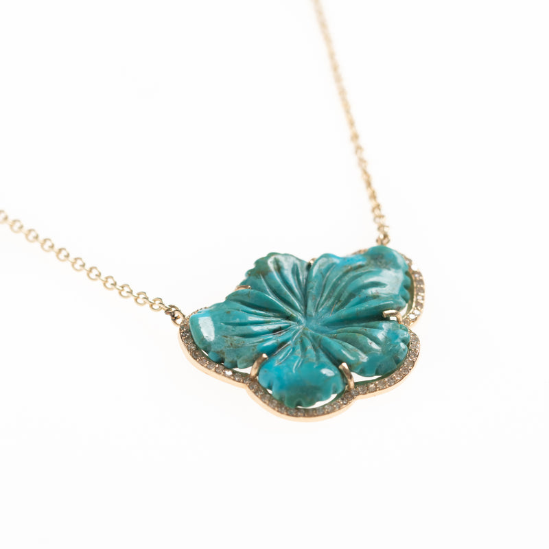 Turquoise Bloom Gold Necklace