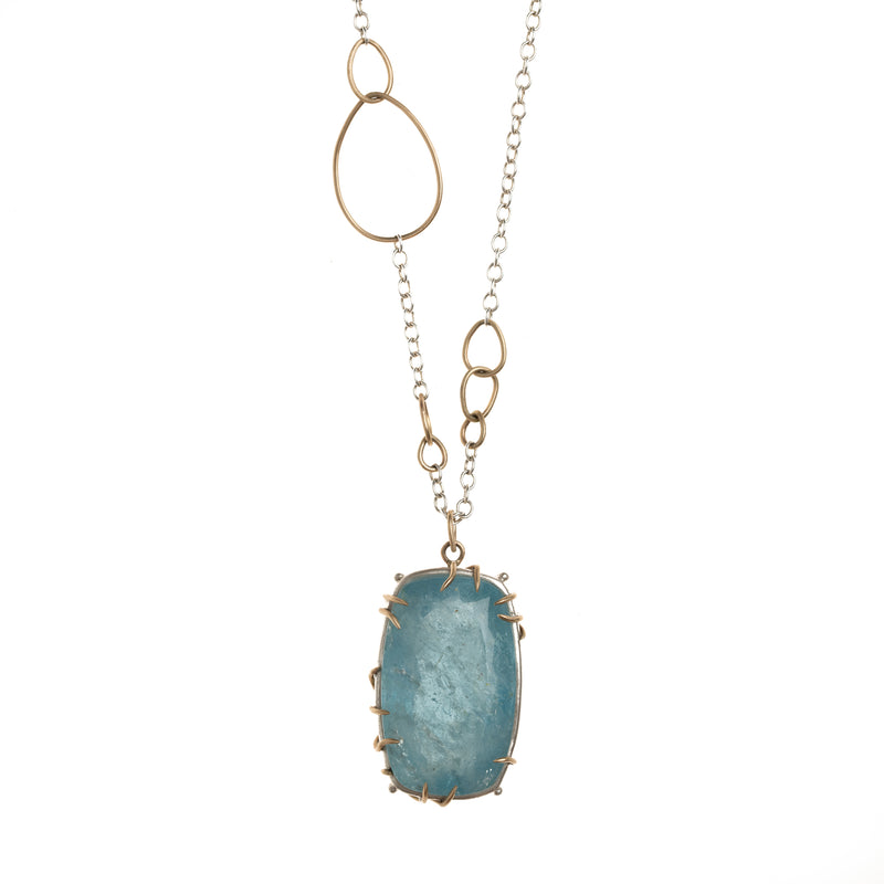 Cloud Paint Aquamarine Vanity Waiting Necklace