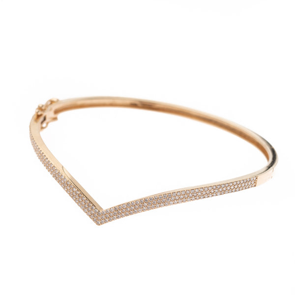 Diamond V Gold Bracelet