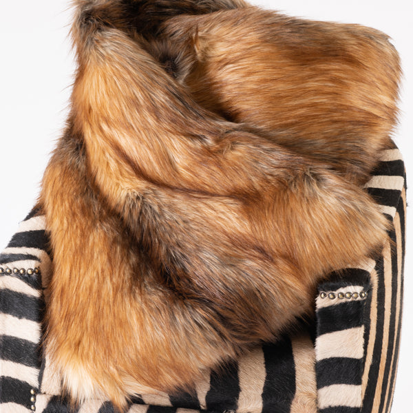Red Fox Faux Fur Throw - 60x86