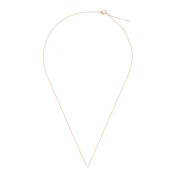 Simple Gold Chain with Single Diamond