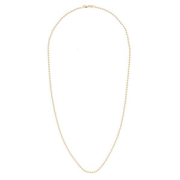 Simple Gold Ball Chain 18""