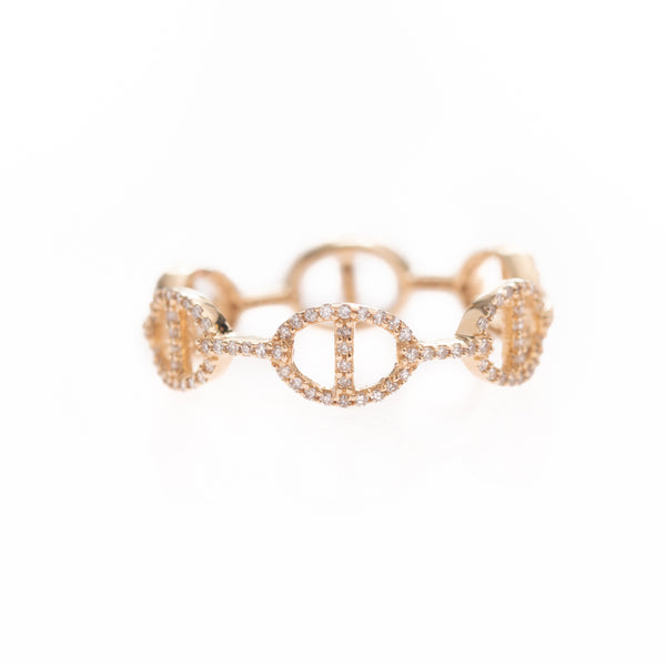 Pave Diamond Link Ring
