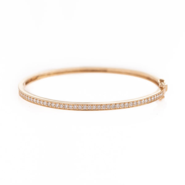 Single Diamond Row Gold Bracelet
