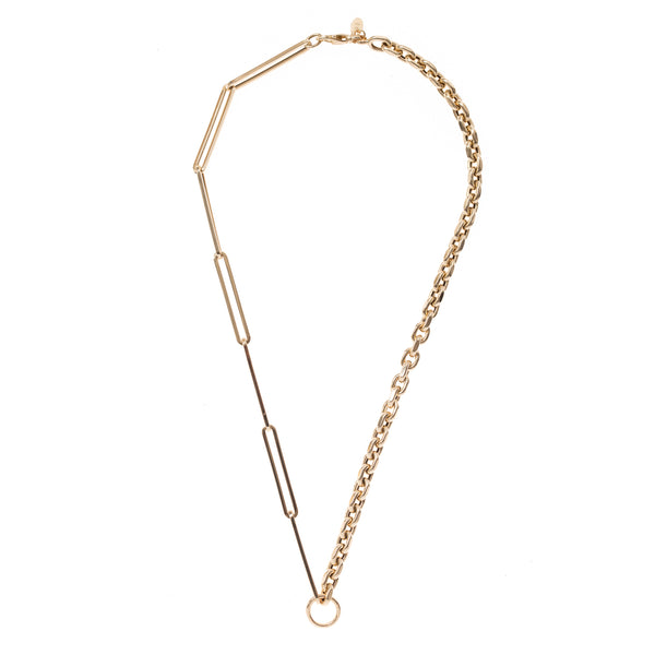 Mixed Length Link Gold Chain 18""