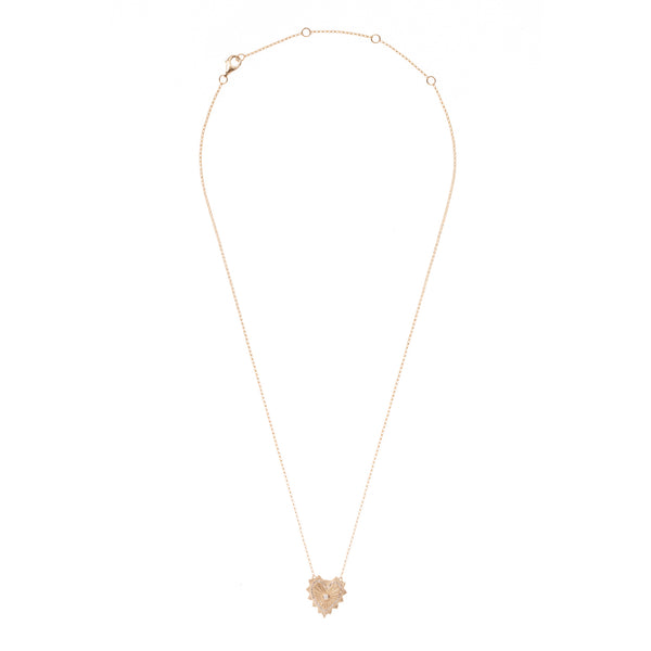Sacred Halo Gold Heart Necklace