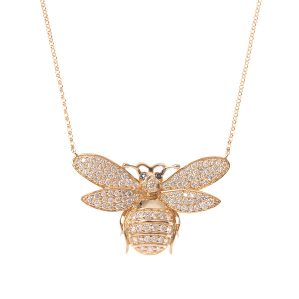 Big Sweet Bee Gold Necklace