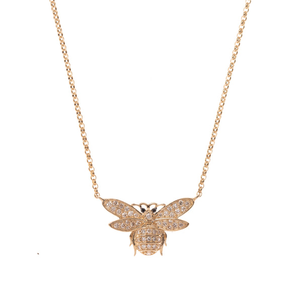 Sweet Bee Gold Necklace