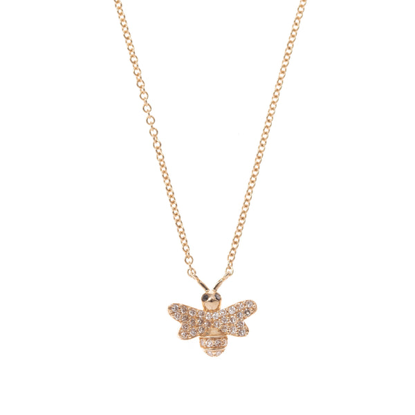 Petite Sweet Bee Gold Necklace