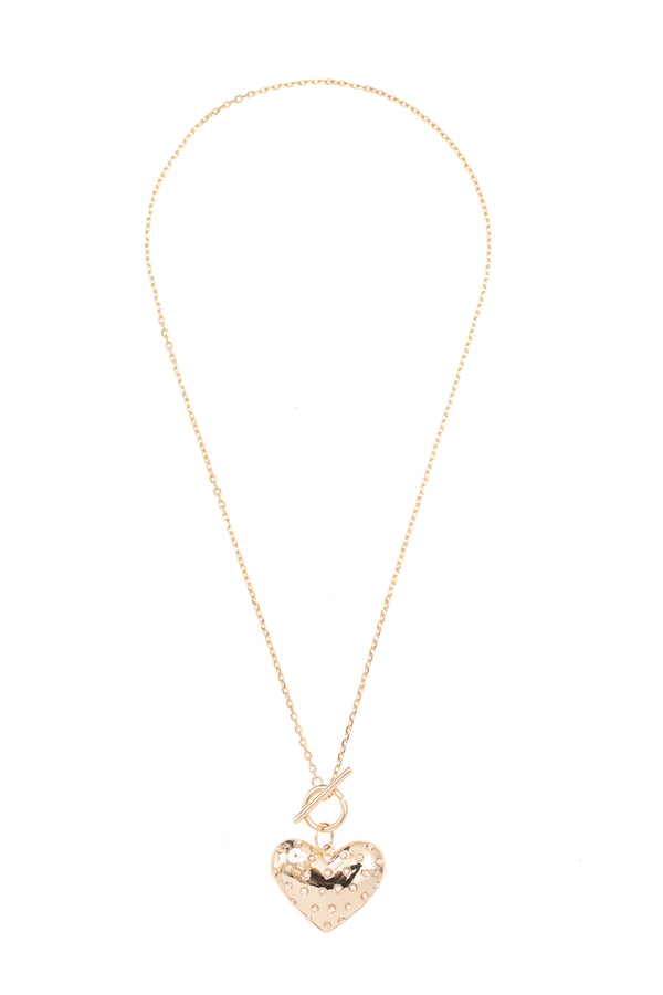 Simple Gold Toggle Clasp Chain 18""
