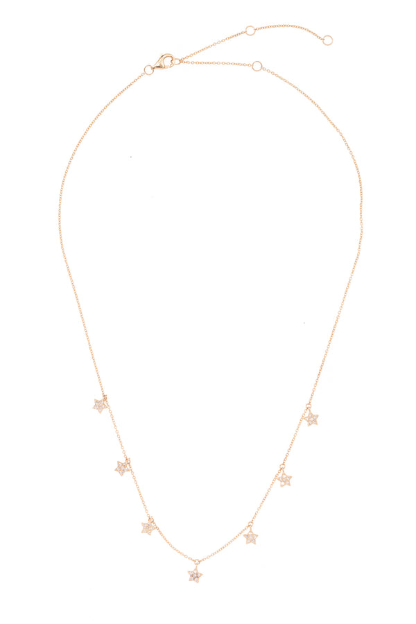 Constellation of Stars Gold Necklace
