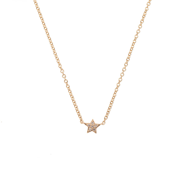 Extra Small Gold Star Necklace