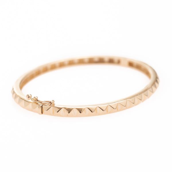 Gold Pyramid Pattern Bracelet