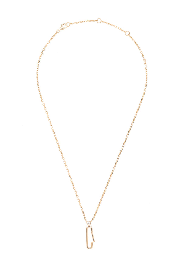 Gold Paperclip Clasp Chain 16""
